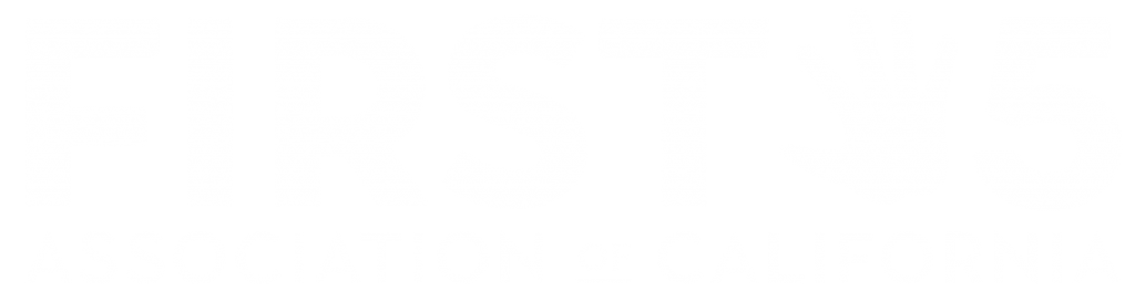 The First 5 Association logo, which features a child's hand print