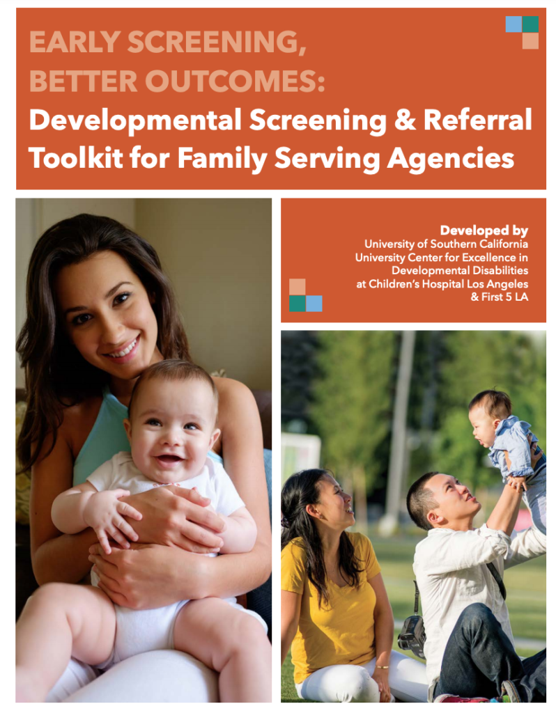 The cover of the new First 5 LA screening toolkit