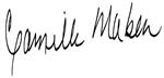 Signature of Camille Maben